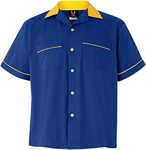 Royal /& Gold Classic Bowler 2.0 Bowling Shirt