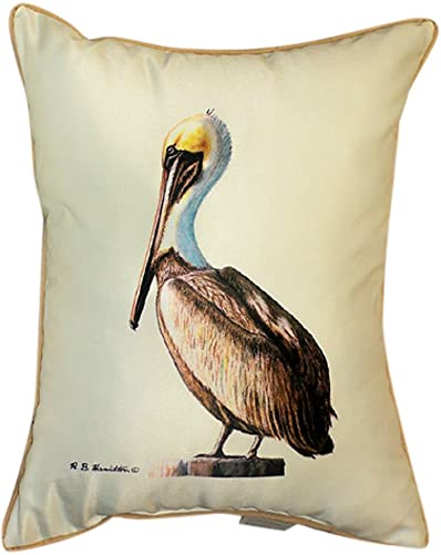 Betsy Drake HJ035 Pelican Art Only Pillow 15 x22