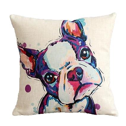 Amazon ISEAREX Animal Cushion Cover Boston Terrier Dog Extraordinary Boston Terrier Decorative Pillow