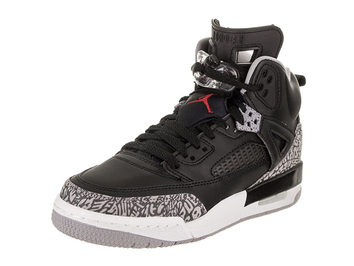 promo code 65e6e 7b8c6 Amazon.com   Nike Air Jordan Spizike BG Grade School Black Cement  Grey White Red, 5.5   Basketball