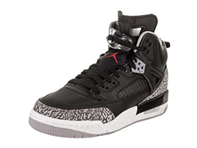 premium selection 418f5 52ada Image Unavailable. Image not available for. Color  Jordan Nike Kids Spizike  BG Black Varsity Red Cement Grey Basketball Shoe ...