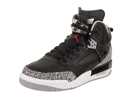 buy popular c4edf 14db8 Jordan Nike Kids Spizike BG Black Varsity Red Cement Grey Basketball Shoe  4.5 Kids US