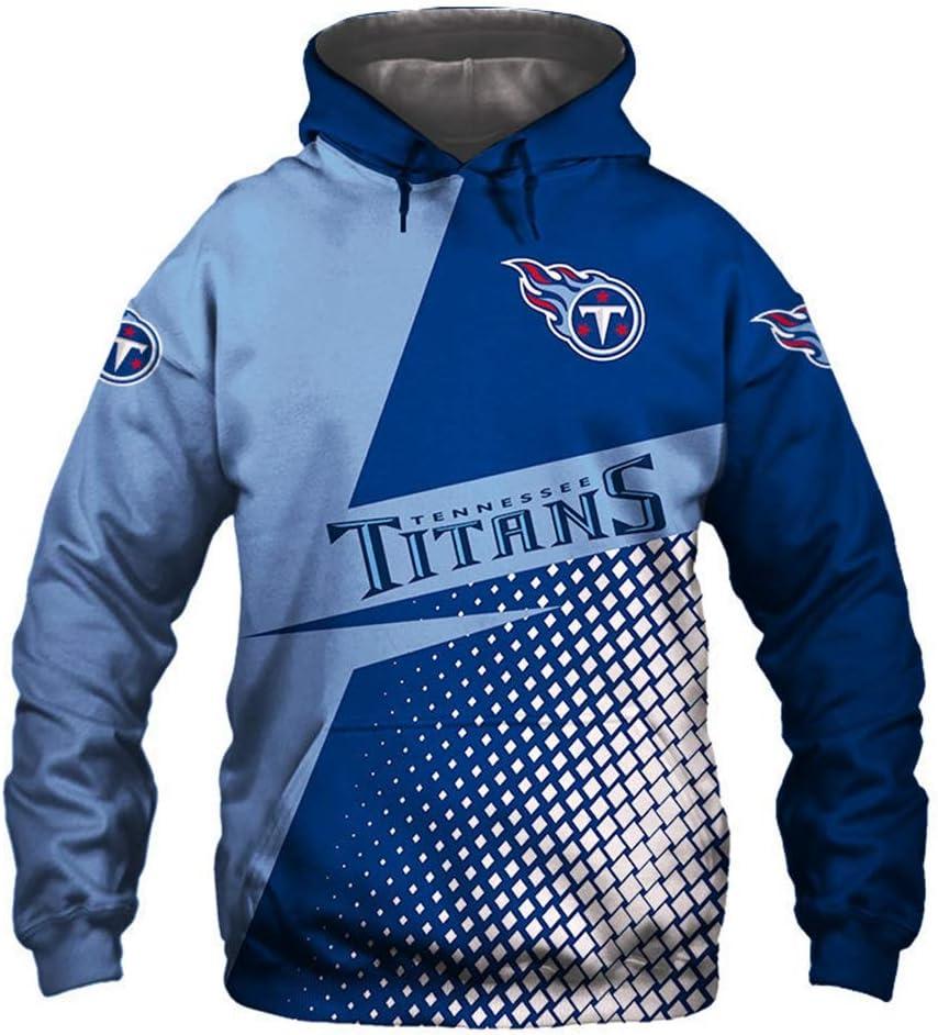 ATI-HSKJ Tennessee Titans Hoodies American Football Pullover American Football Union Jersey-Tops Rugby-Team-Logo Trainings Langarm-Kapuzenshirt,2XL