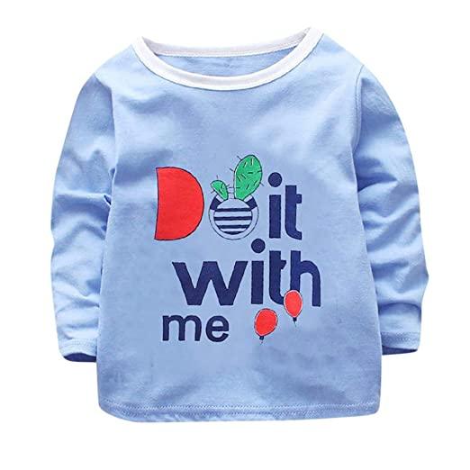 e9c8c4b06ab9 Amazon.com  Toddler Baby Girls Boys Fall Winter Clothes Tops 1-4 ...
