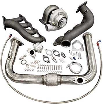 Turbo Kit T70 Single T4 Silverado Sierra Turbocharger Vortec V8 LS 4.8 5.3 6.0