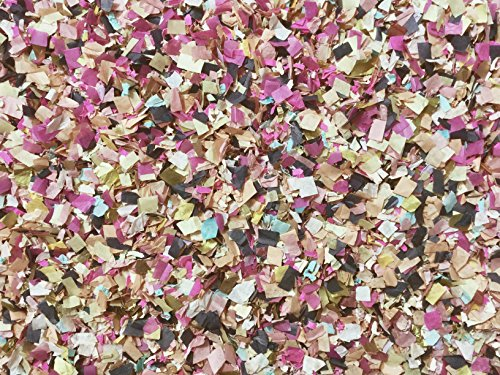 Midnight Jewels Confetti Mix Pink Blue Gold Biodegradable Compostable Wedding Shower Party Decorations Bulk Wholesale Throwing Send Off Table Decor InsideMyNest (25 Handfuls)