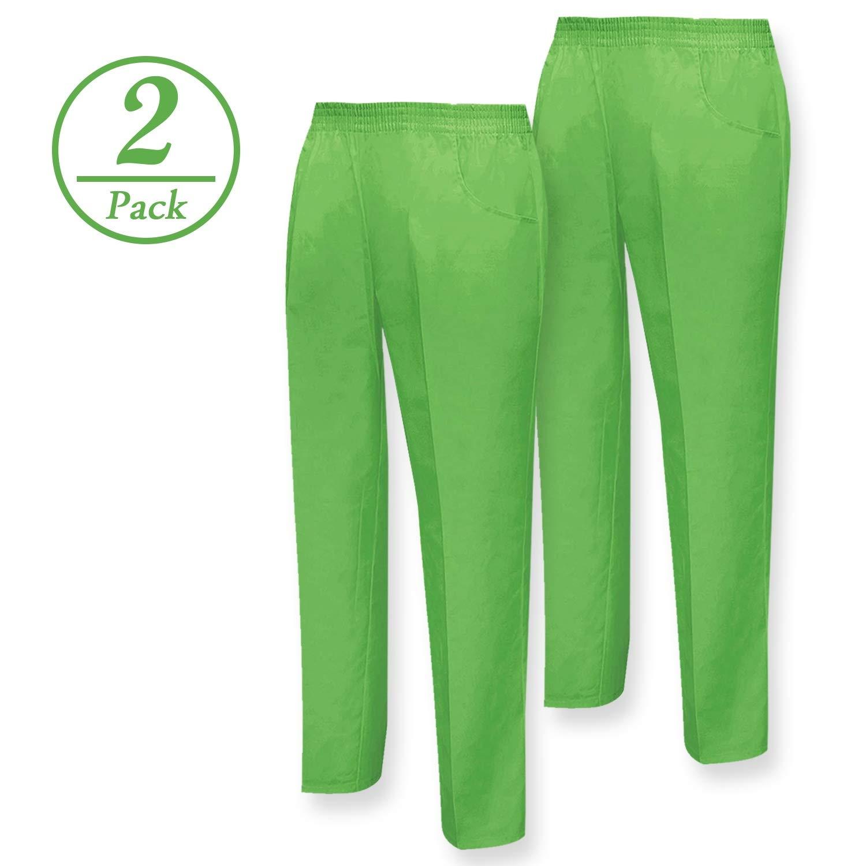 Pack de 2 para Hombre MISEMIYA Pantal/ón Sanitarios Unisex Trabajo