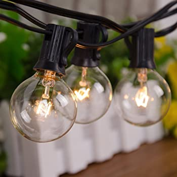 NZT 25 Feet Outdoor Globe String Lights with 25 Bulbs
