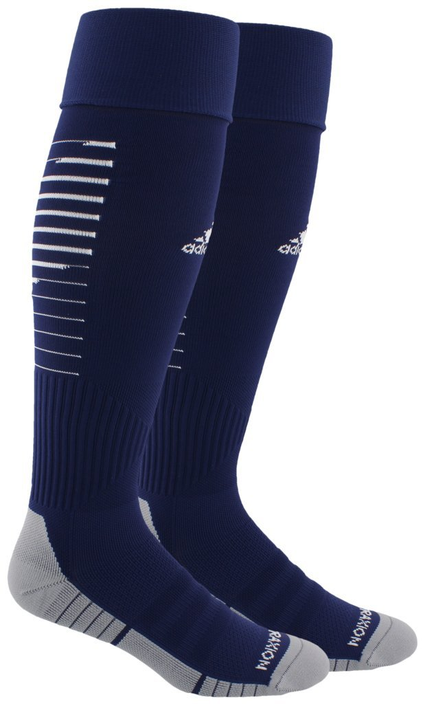 adidas Unisex Team Speed II Soccer Socks, (1-Pair), Dark Blue/White/Light Onix, 13C-4Y by adidas