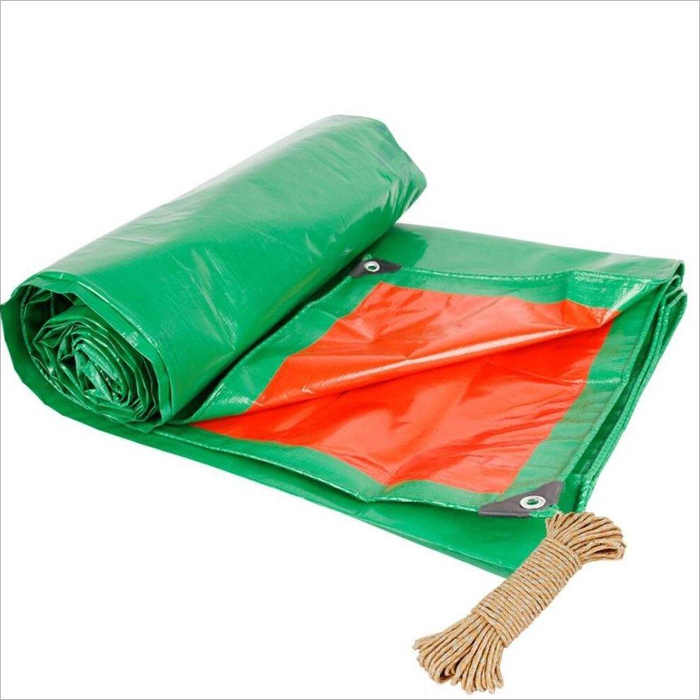 LQQGXL Plane, Plane Doppelseitige feuchtigkeitsdichten Fracht Staub Tuch, hochtemperaturBesteändige Anti-Aging, grün + Orange Wasserdichte Plane
