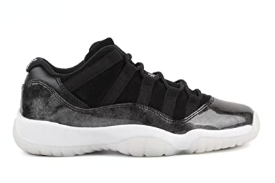 finest selection 2e137 46581 Jordan Kid's Air 11 Retro Low BG, Black/White-Metallic Silver, Youth Size 4