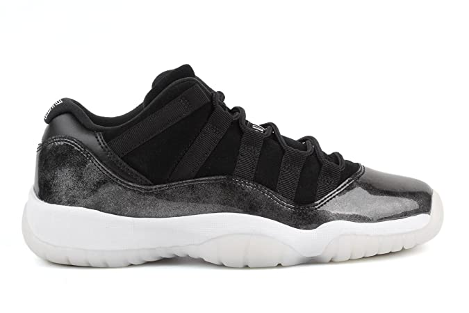 info for ec2ed 9e32b Amazon.com   NIKE Jordan Big Kids Air Jordan 11 Retro Low GS Baron Black  White-Metallic Silver Size 6.0 US   Sneakers