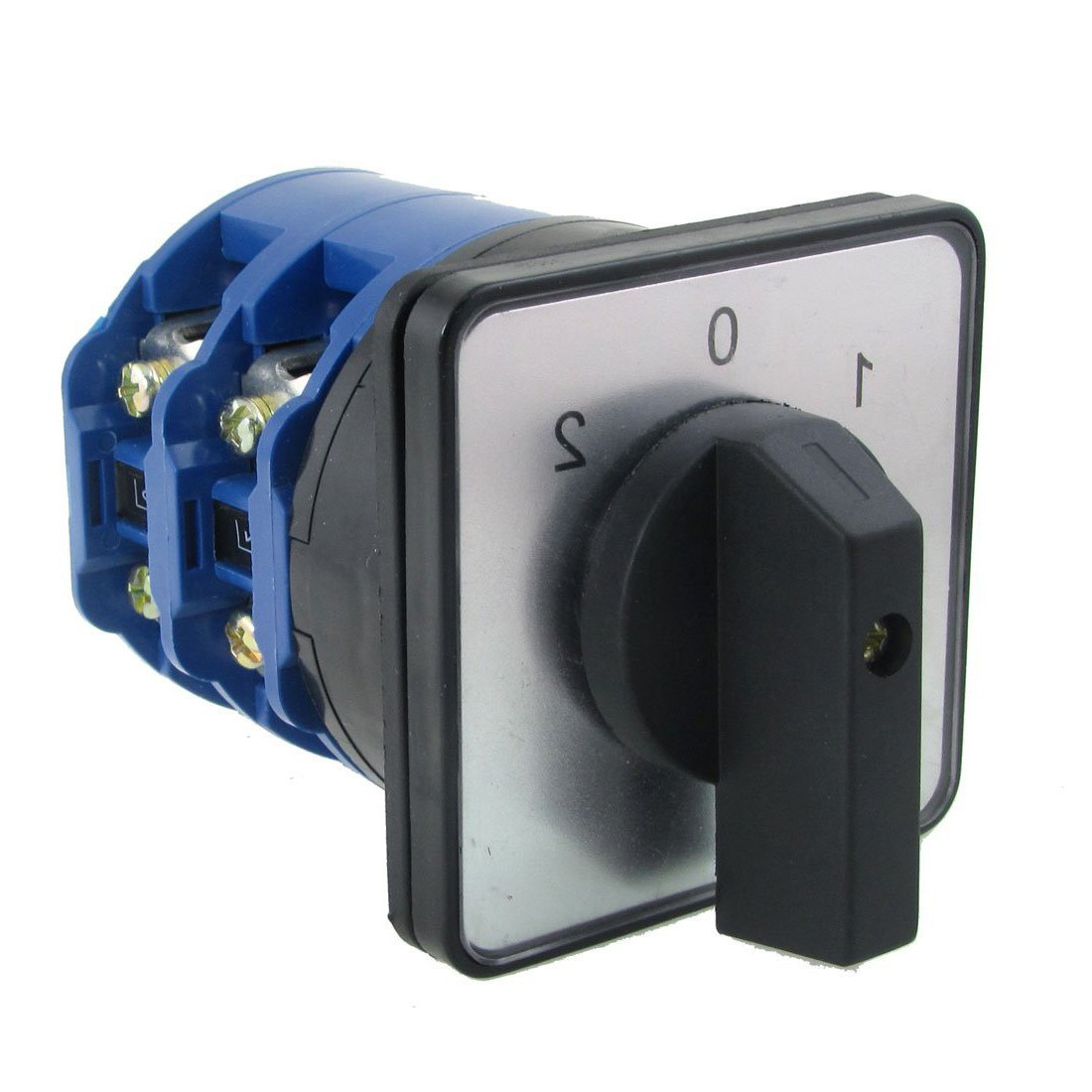 YXQ Cam Changeover Switch, 660V Ui 63A Ith ON/OFF/ON 3 Position 8 Screw Terminals Rotary Switch with Screws