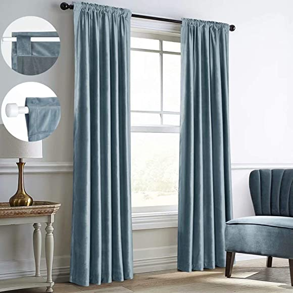 Mitlatem Velvet Blackout Curtain