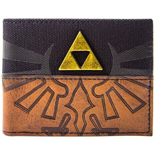 amp; Bi Card Brown Retro Wallet Zelda Triforce Badge Fold ID of Legend 1TH0Ow