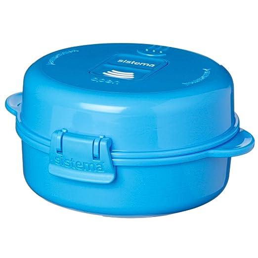 Sistema - microondas fácil huevos, IR, Azul: Amazon.es: Hogar
