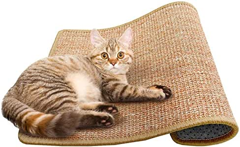 Cat Scratching Mat Sisal Mats Cat Scratching Pad Carpet Cat Scratch Rug Floor Cat Scratchers Sisal Fabric Sisal Carpet Cat Scratching Post Sisal Fabric Scratching Post 15.7 23.6