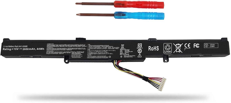 Vinpera A41-X550E Battery for ASUS X450 X550 X550E X550L X550LB X550V X550Z X550ZA X751L K550 K550D F450 F450C X751m X750j X750ja 15V 2600mAh