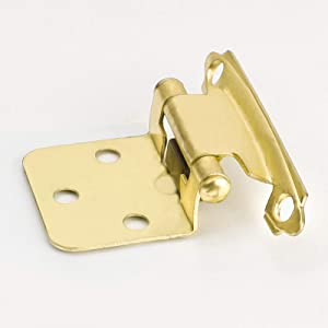 glodenwarm Kitchen Cabinet Hinges Brass Flush Cabinet Hinges Self Closing Cabinet Door Hinges - SCH30BB Face Mount Cabinet Hardware Hinges Variable Overlay Hinges for Cupboard,20Pair