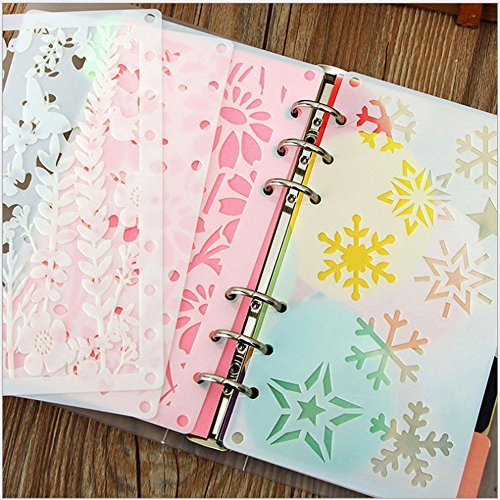 Misscrafts 12PCS Bullet Stencils Set A6 Journal Planner Stencils Notebook 8-Ring Paper Inserts Perfect for Children Creation Scrapbooking DIY Albums Card and Craft Projects