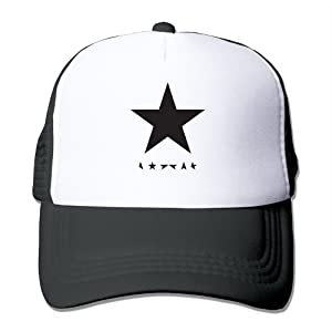 David Bowie Blackstar Album Cover Lazarus Sue Mens Adjustable Baseball Hats Mesh Caps