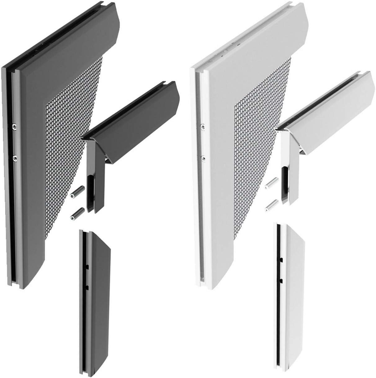 Windhager Z8 Juego de Conectores angulares de Aluminio para Puertas y Ventanas con armazón de Rame, Plateado, 0, 68 x 6 x 6 cm, 03538: Amazon.es: Jardín