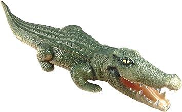 Rehabilitación Ventaja playvisions Flotador un Tiempo – Largo de Piel de cocodrilo Hinchable con Piscina Predator: Amazon.es: Juguetes y juegos