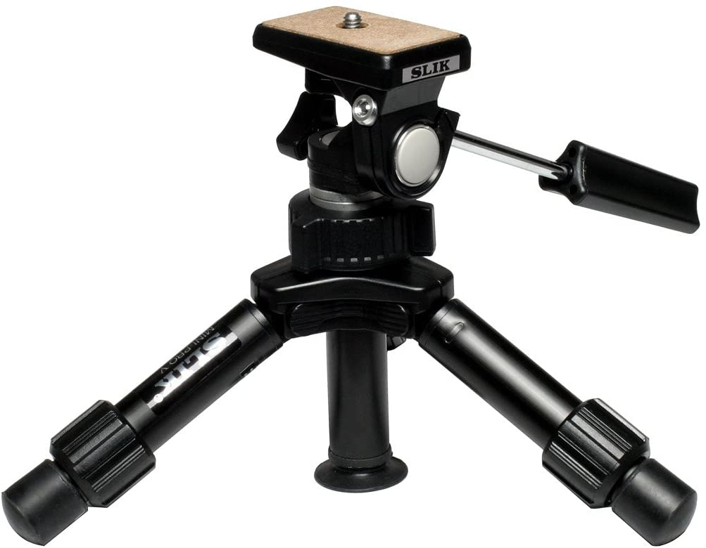 Black Max 10 2-Section SLIK Mini Pro III Table Top Tripod
