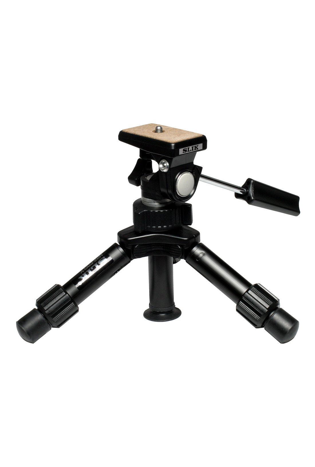 SLIK Mini-Pro V Tripod with 2-Way Pan/Tilt Head - Black by Slik