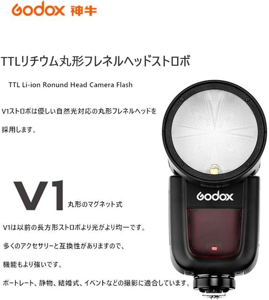 Godox V1N TTL Li-ion Round Head Camera Flash 2.4G HSS 1//8000s Speedlite for Nikon