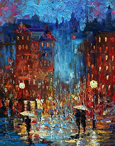 Old City Night, Limited Edition, Signed and Numbered Print