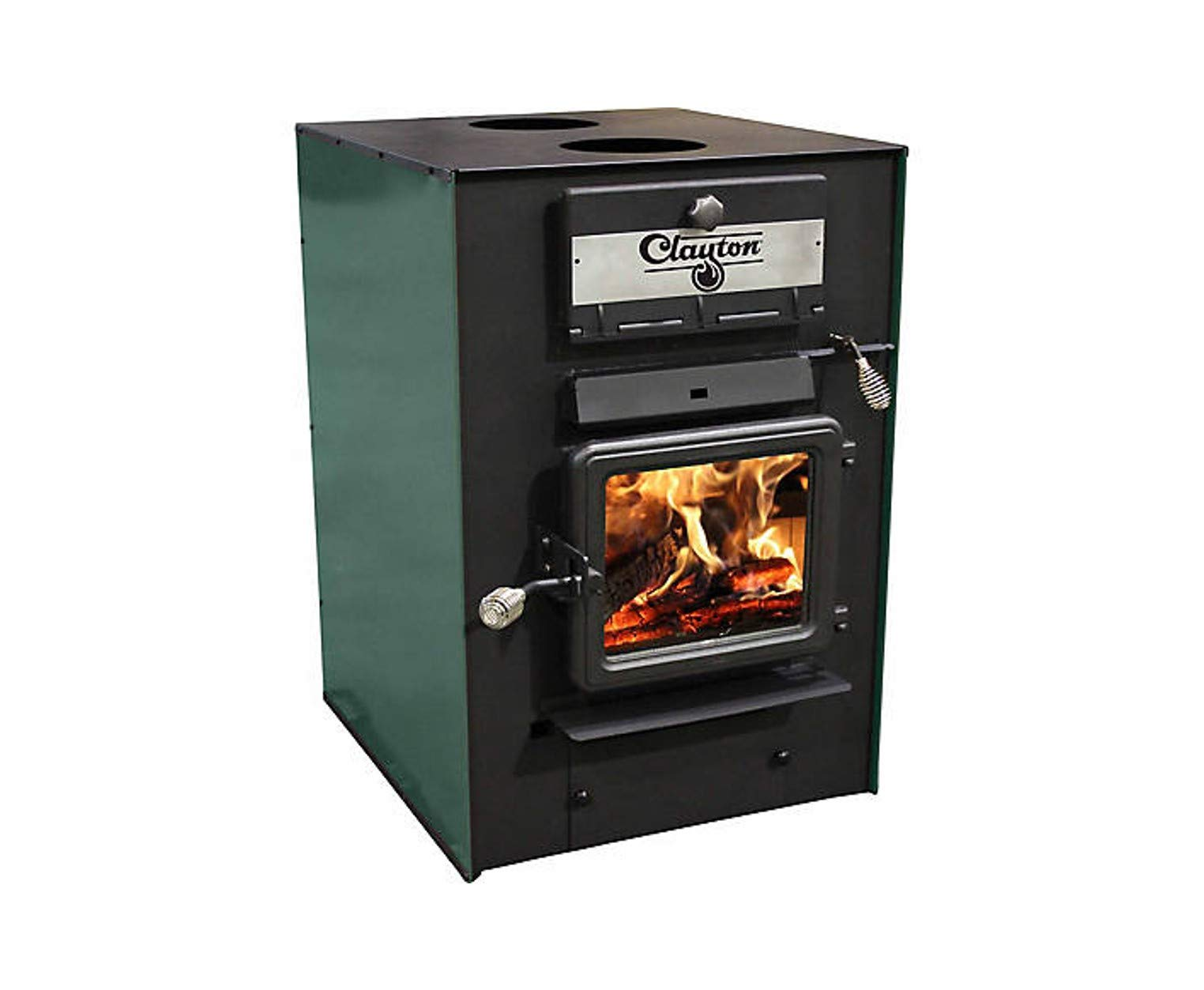CLAYTON US Stove Wood Furnace, 2,750 sf with Dual 550 CFM Blowers CF700M by CLAYTON
