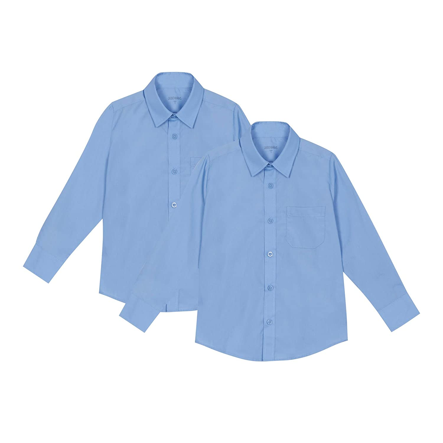 Debenhams Kids 'Set of 2 Boys' Blue Regular Fit School Shirts