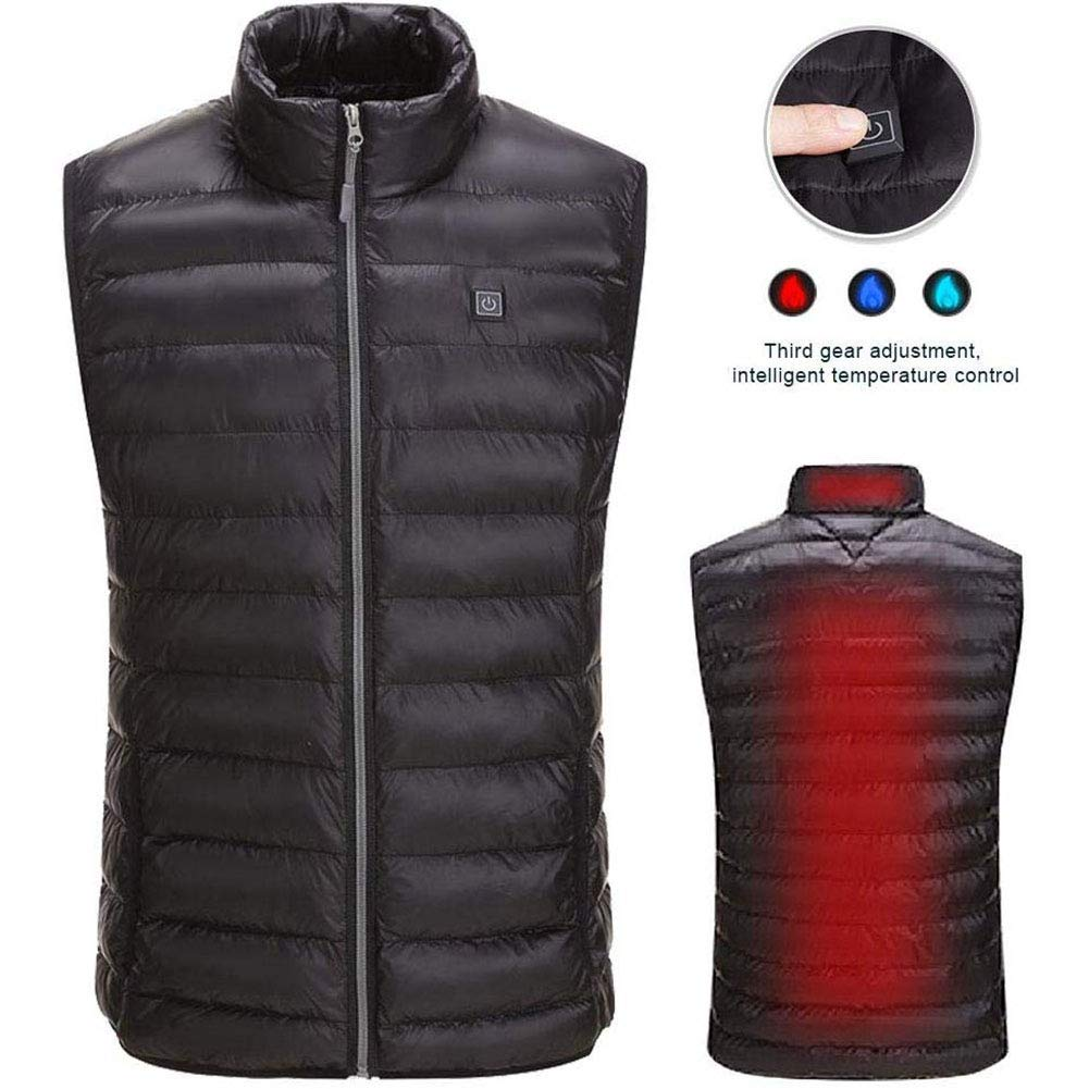 YCKZZR Heated Vest, 5V USB Charging Warm Lightweight Vest for Outdoor Camping Hiking Golf, Washable Heated Clothes Heating Pad Fits Men and Women (Battery Not Included)