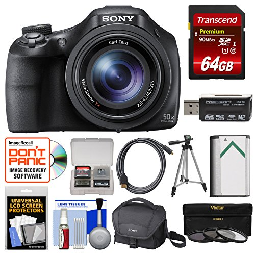 Sony Cyber-Shot DSC-HX400V Wi-Fi Digital Camera with 64GB Ca