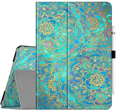 Fintie Folio Case for New iPad 8th Gen (2020) / 7th Generation (2019) 10.2 Inch – [Corner Protection] Premium Vegan Leather Smart Stand Back Cover with Pencil Holder, Auto Sleep/Wake, Shades of Blue