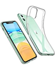 ESR Case for iPhone 11, iPhone 11 Cover with Slim Clear Soft TPU, 1.1 mm Thick Back Case, Shock-Absorbing Air-Guard Corners, Flexible Silicone Cover, Clear