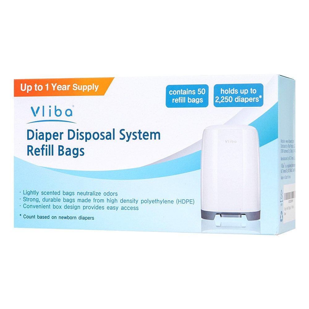 Vliba Diaper Pail Refill Bags (2-Pack) by Vliba