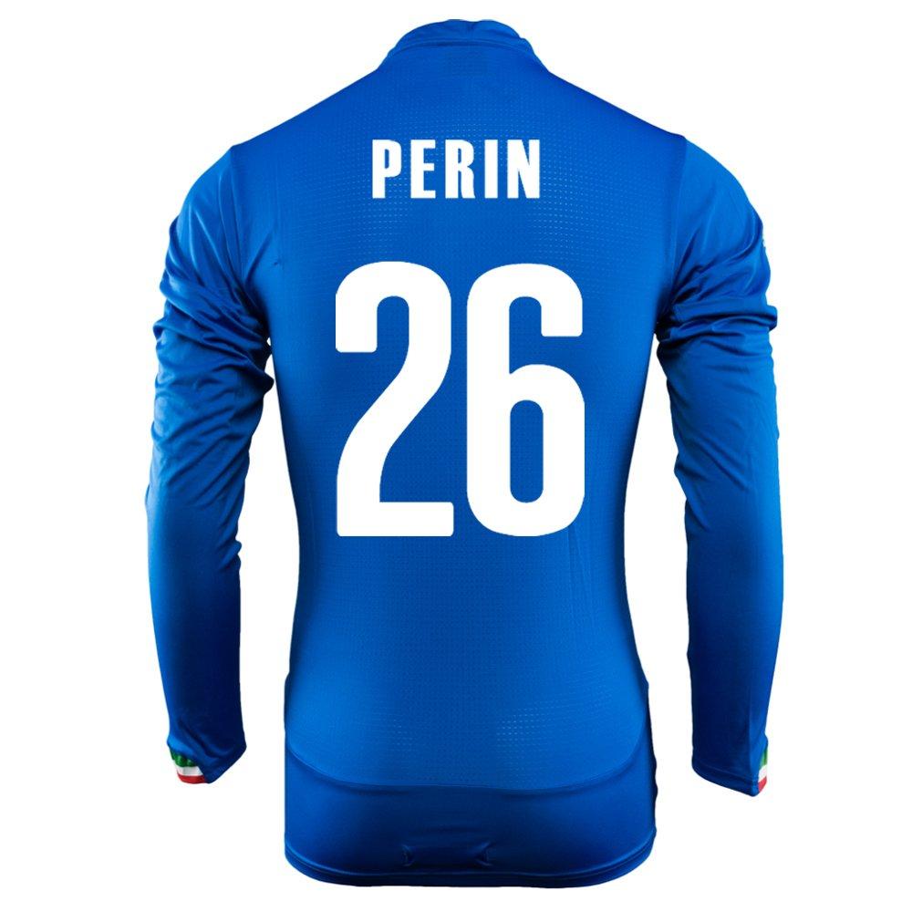 Puma Perin #26 Italy Home Jersey World Cup 2014 Long Sleeve/サッカーユニフォーム イタリア ホーム用 長袖 ワールドカップ2014 背番号26 ペリン B00KWKBK0M   XL
