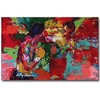 ERQINGYH Pittura Ad Olio di Calligrafia Boxer Rocky Art Silk Poster Dipinto A Mano Pittura A Olio su Tela Immagini del Film Living Room Decor