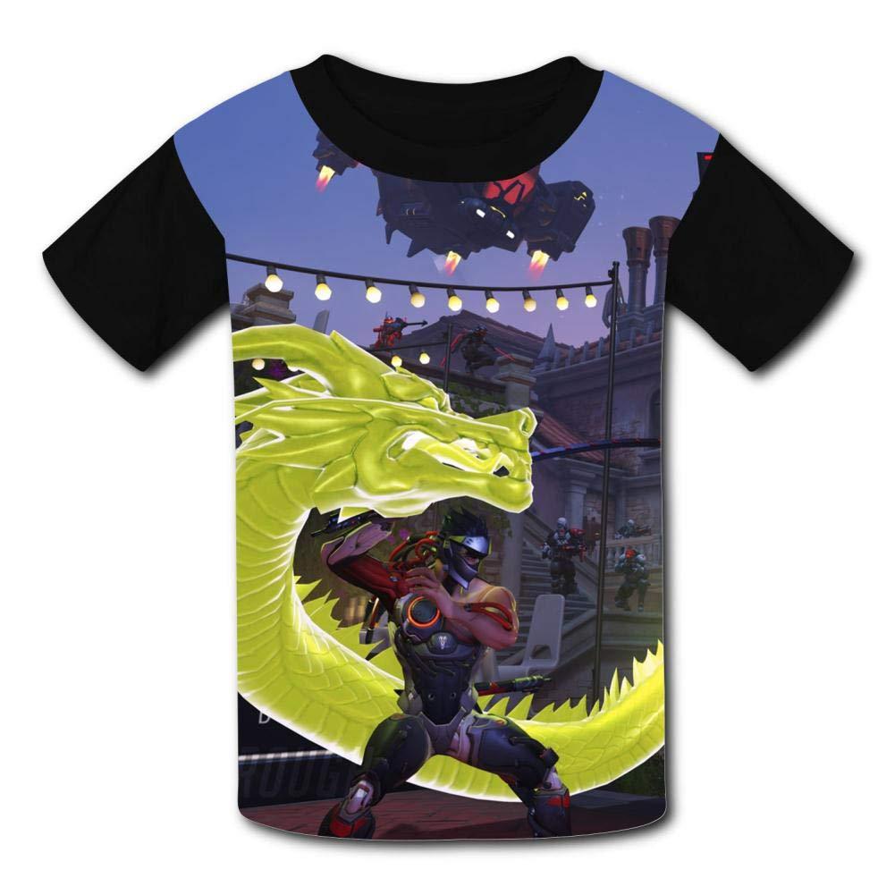 Gen-Ji War Dragon Kids T-Shirts Short Sleeve Tees Summer Tops for Youth//Boys//Girls