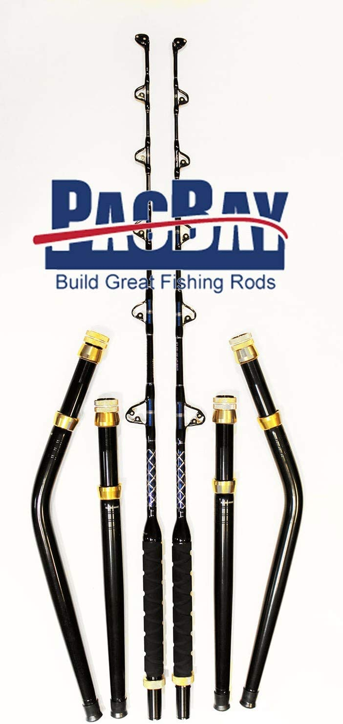Xcaliber Marineのペア6 ' 50 – 80 lb Pro Tournamentシリーズ海水Trolling Rods Includes Bentと直線突合せ