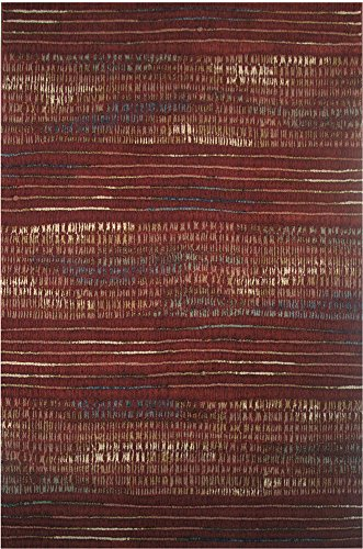 - LA Rug Sonoma Collection Area Rug, Red, 5' x 8'