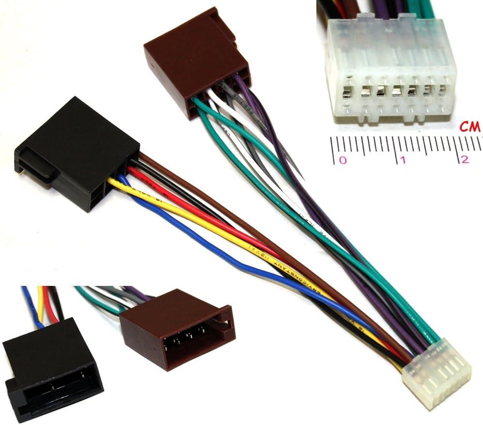 AERZETIX: Cable adaptador enchufe ISO E5 para radio de coche C2058 ...