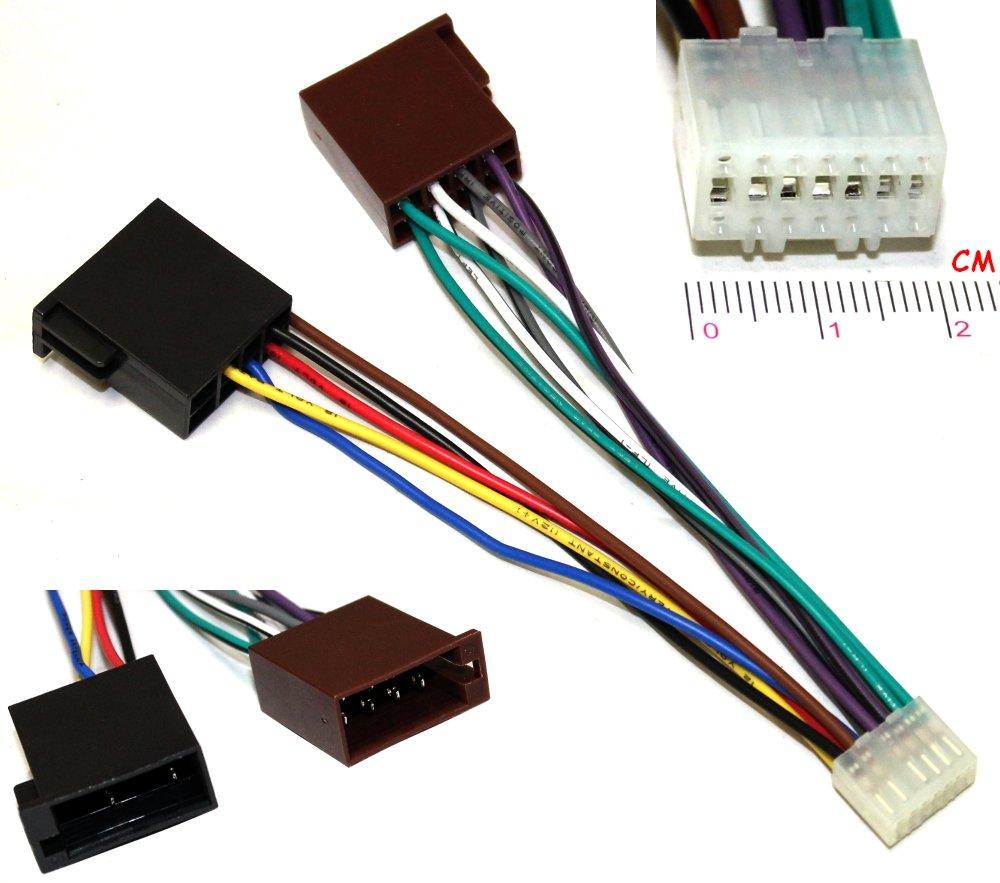 AERZETIX –  Adaptador ISO E5 con cable convertidor de enchufe para radio de coche Kenwood –  C2058 3800946310204