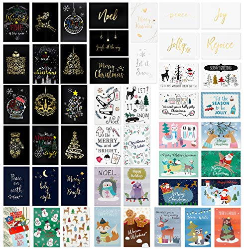 48 Unique Christmas Cards Assorted- Christmas Greeting Card in 48 Unique Designs- Assorted Christmas Greeting Cards- Family Christmas Cards- 48 Bulk Assorted Christmas Cards with Envelopes,4 x 6 Inch (Best Business Christmas Cards)