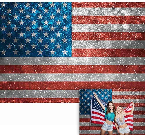 Citizenship Party Vintage Valentine Fabric Heart Flag Garland Independence Day Patriotic Banner 4th of July Bunting Photo Prop