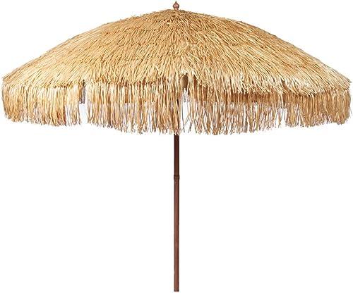 Hula Thatched Tiki Umbrella Natural Color 6' 8' 9' Options 8ft