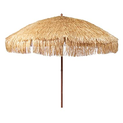 Amazon Com Bayside21 8 Hula Thatched Tiki Umbrella Natural Color