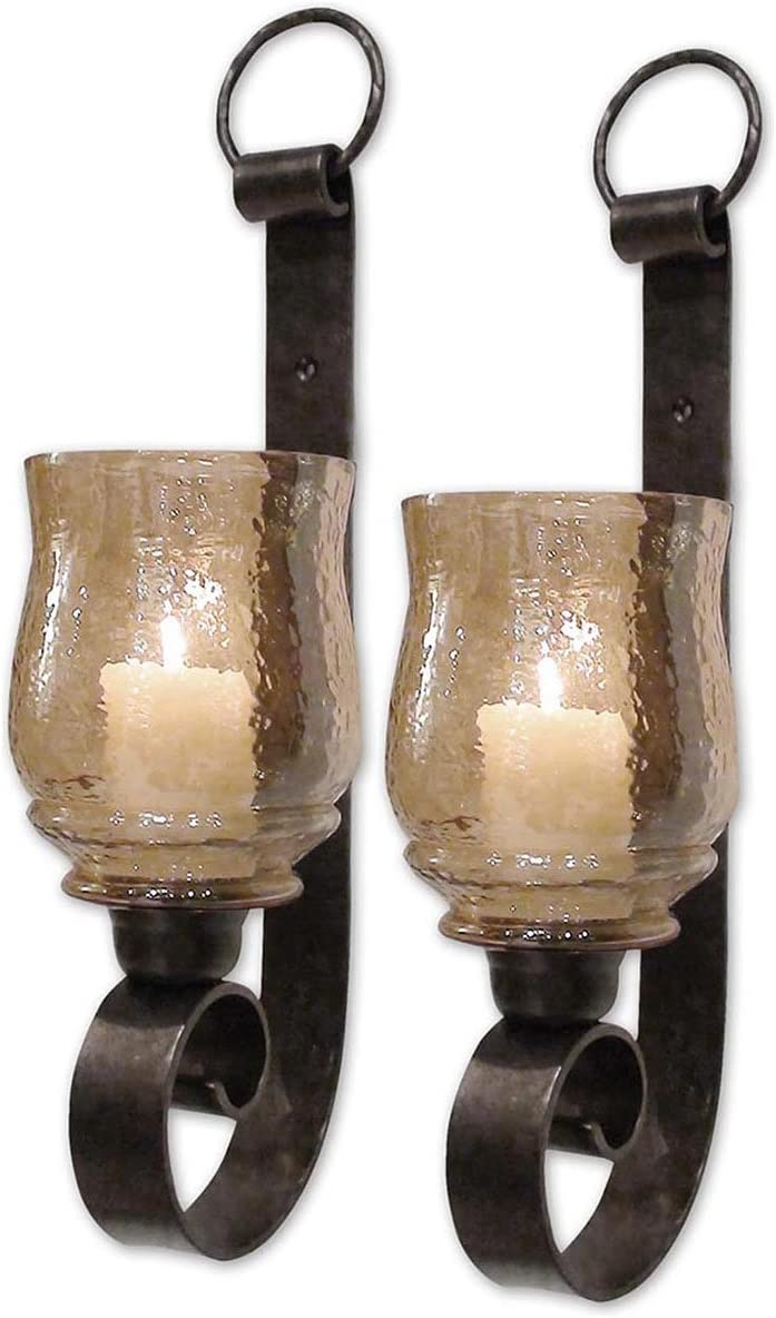 Uttermost Joselyn Small Wall Sconces 6 x 6 x 18 (Set of 2), Bronze